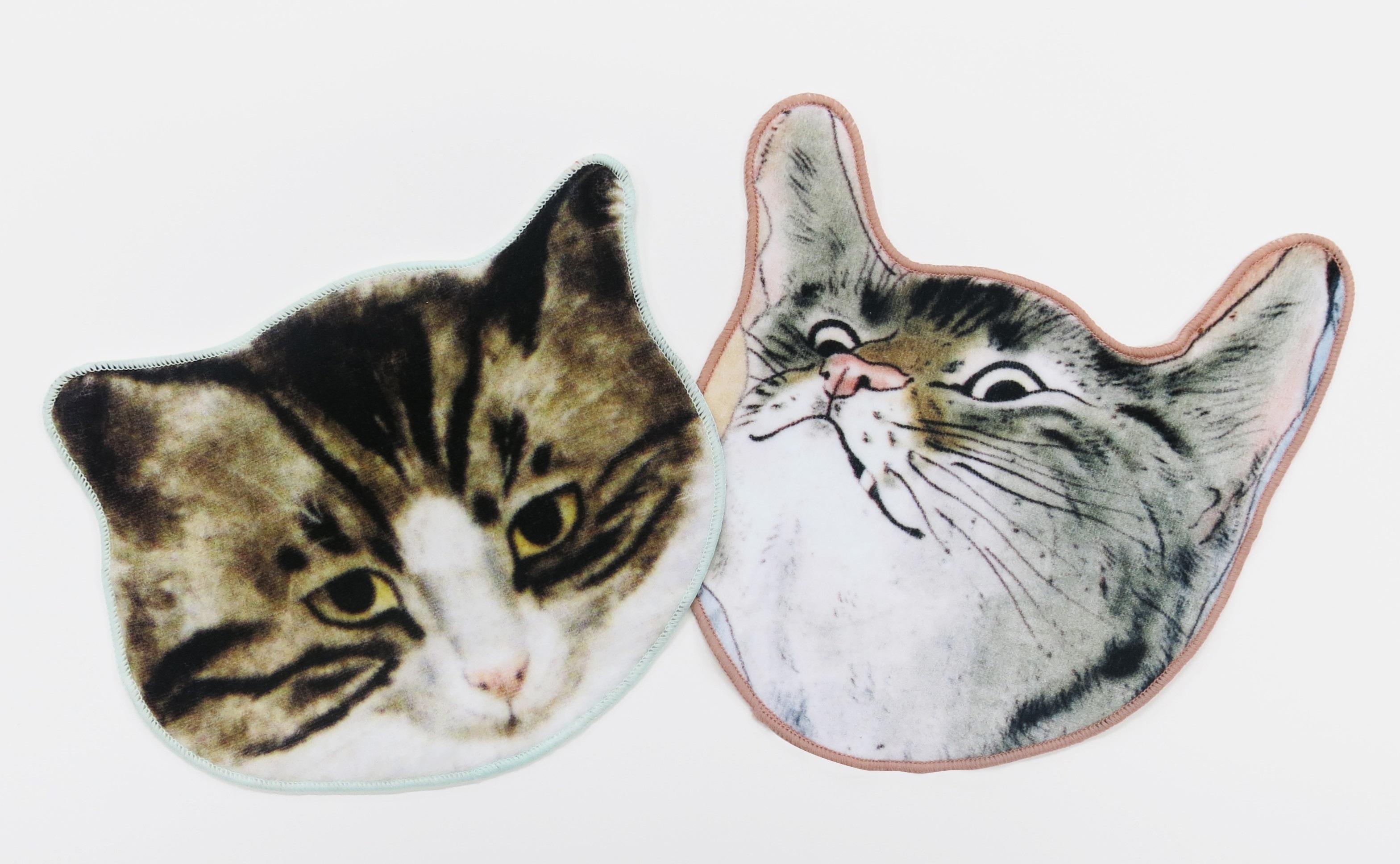 猫型タオル 各1,080円(税込)