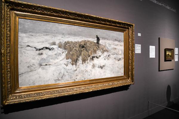 アントン・マウフェ《雪の中の羊飼いと羊の群れ》 ハーグ美術館蔵
