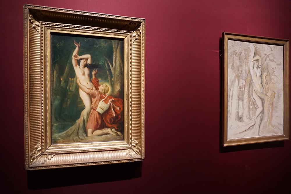 テオドール・シャセリオー <アポロンとダフネ> 1845年 パリ、ルーヴル美術館