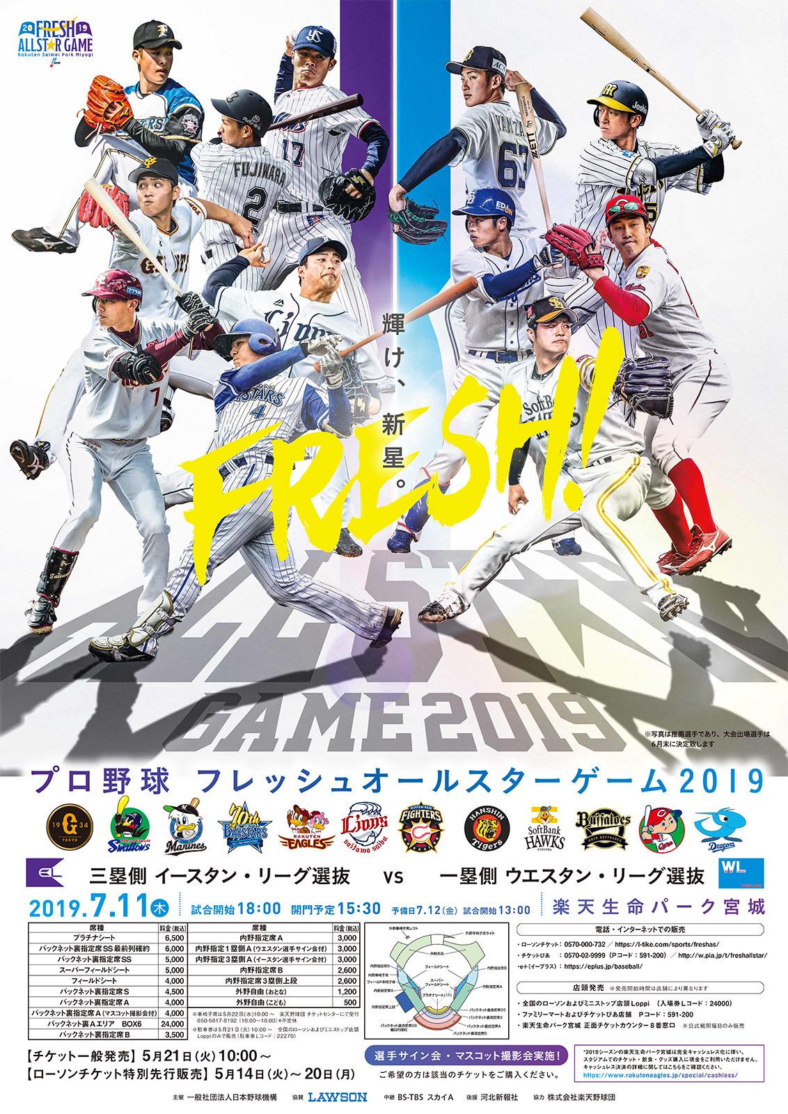 『プロ野球フレッシュオールスターゲーム2019』が7月11日(木)に開催される