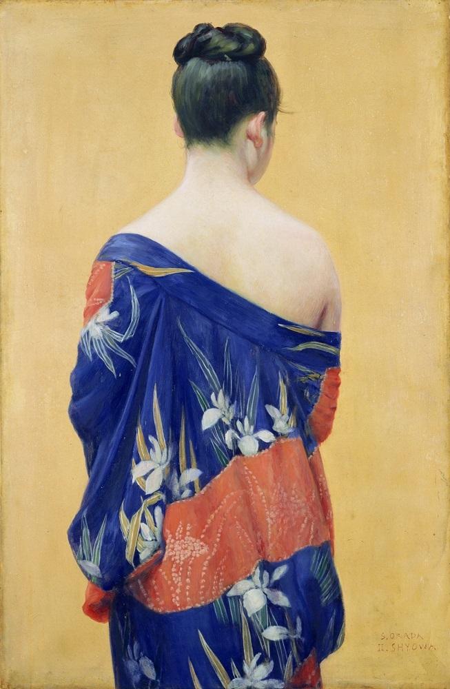 岡田三郎助《あやめの衣》1927年(昭和2)油彩/厚紙(カンヴァスに貼付) ポーラ美術館