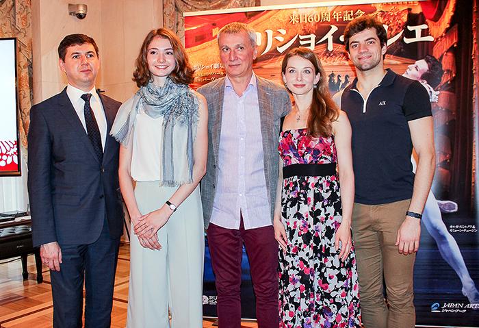 左から キヤネンコ副総裁、コワリョーワ、ワジーエフ監督、オブラスツォーワ、ツヴィルコ (撮影:西原朋未)