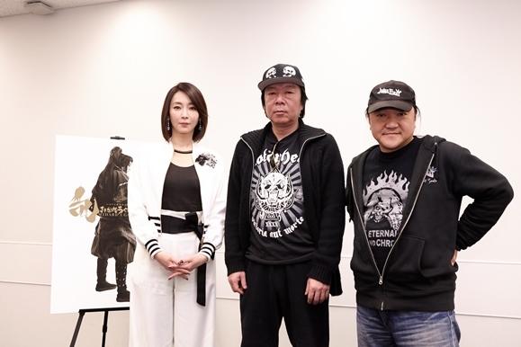 (左から)稲森いずみ、古田新太、いのうえひでのり 撮影:藤田晃史