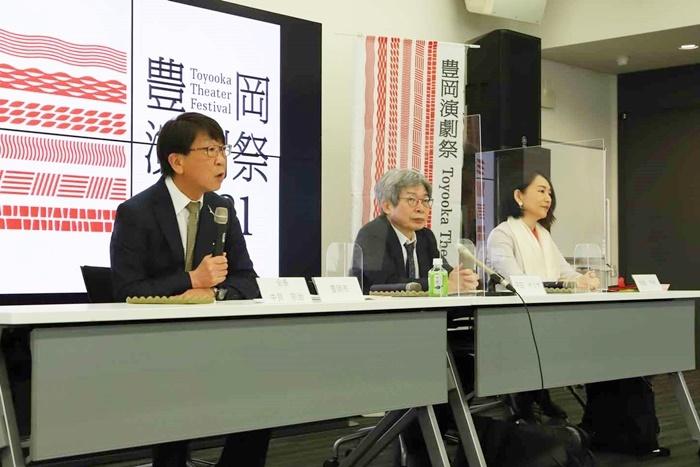 (左から)中貝宗治豊岡市長、平田オリザ氏、相馬千秋氏。