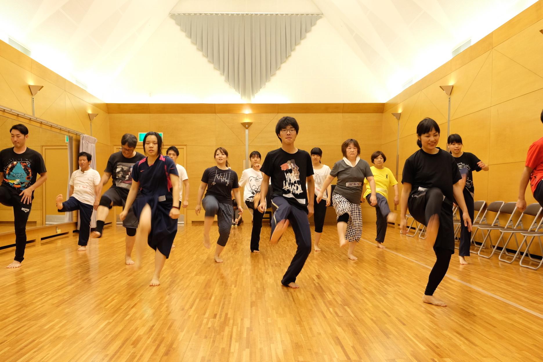 『都会の生活』稽古の様子 写真提供:宮崎県立芸術劇場