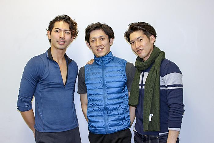 (左から)井澤駿、木下嘉人、福岡雄大 (撮影:西原朋未)