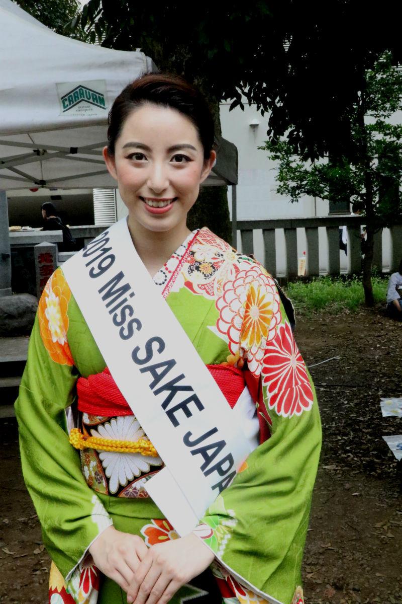 2019 Miss SAKE Japan/ミス日本酒・春田早重さん