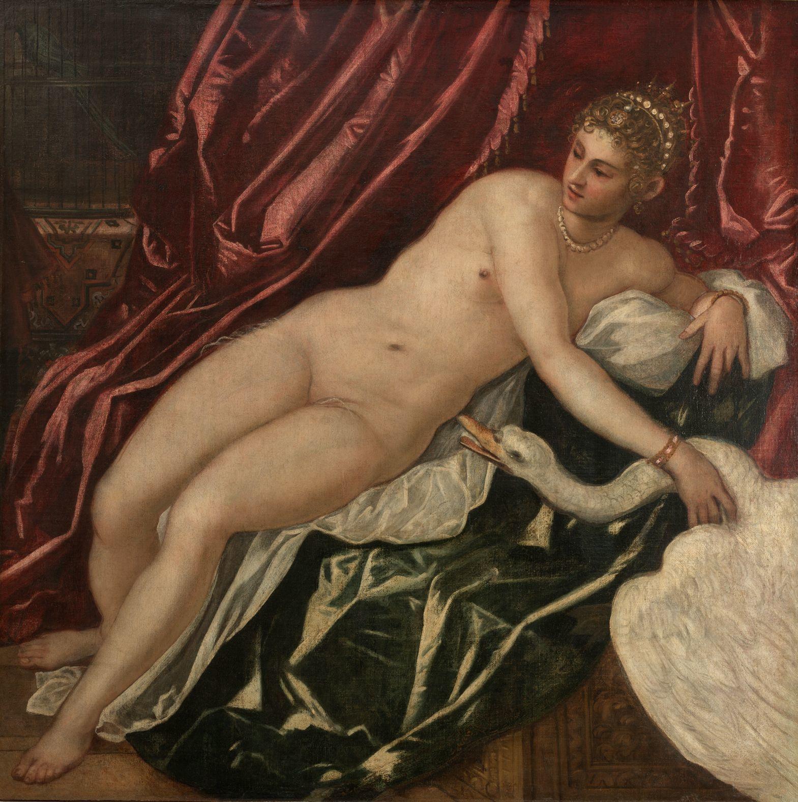 ティントレット (ヤコポ・ロブスティ) 《レダと白鳥》 1551-55年頃 ウフィツィ美術館 © Gabinetto Fotografico delle Gallerie degli Uffizi