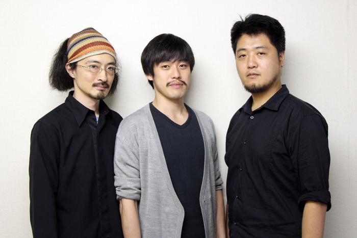 (左から)演出:日澤雄介、大正天皇役:西尾友樹、脚本:古川健