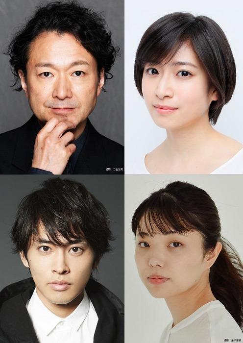 (写真上段左より・演出:白井晃、出演・南沢奈央、下段左より平埜生成、入手杏奈)