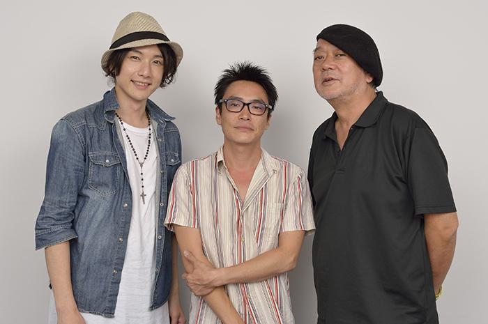 (左から)細貝圭、加藤虎之介、マキノノゾミ