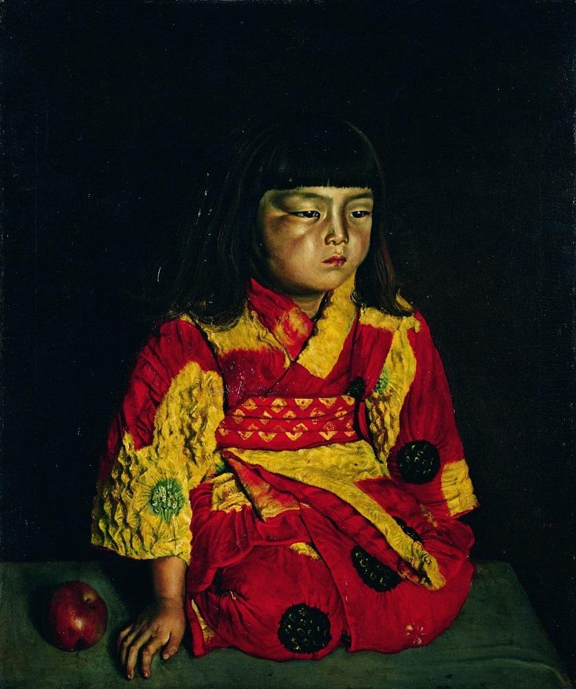 岸田劉生《麗子坐像》1919年(大正8)油彩/カンヴァス ポーラ美術館