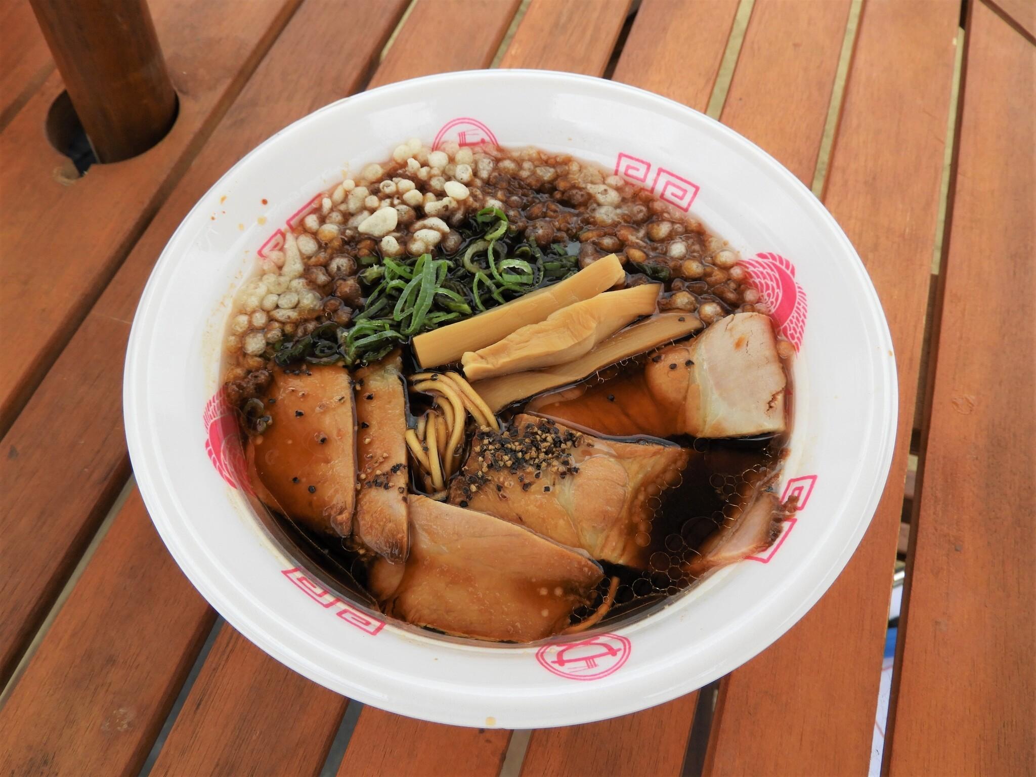 拉麺まるさ商店『高級タカアシガニ出汁極上チャーシュー麺~黒醤油仕立て~』<静岡>