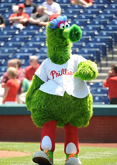 MLBフィラデルフィア・フィリーズの球団マスコット「フィリー・ファナティック」