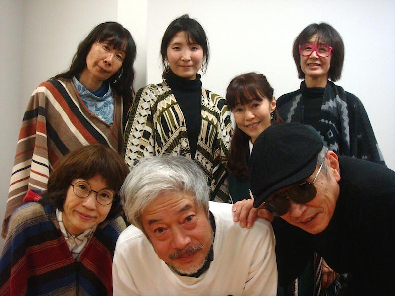 前列左から・たなかちさ、小林正和、北村想 後列左から・中島由紀子、藤島えり子、益川京子、金原祐三子