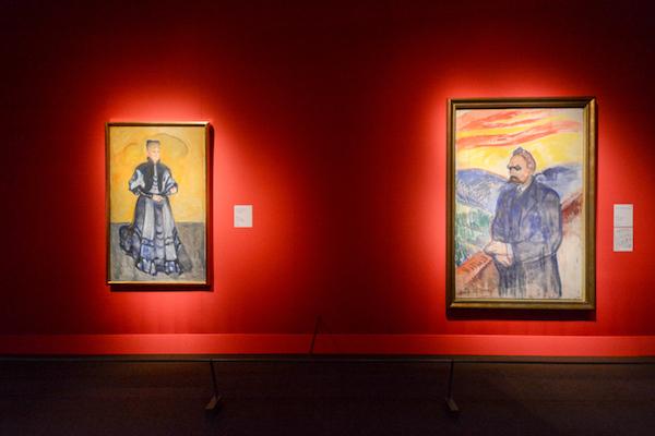 右《フリードリヒ・ニーチェ》 1906年 左《エリーザベト・フォルスター=ニーチェ》 1906年