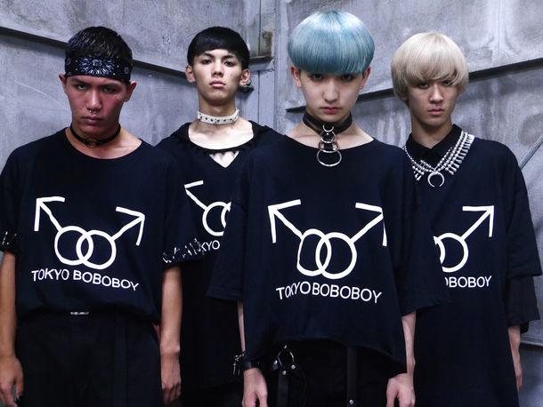 東京ボボボーイ。左からKOTA、SEIYA、P→★、UFO TADA。