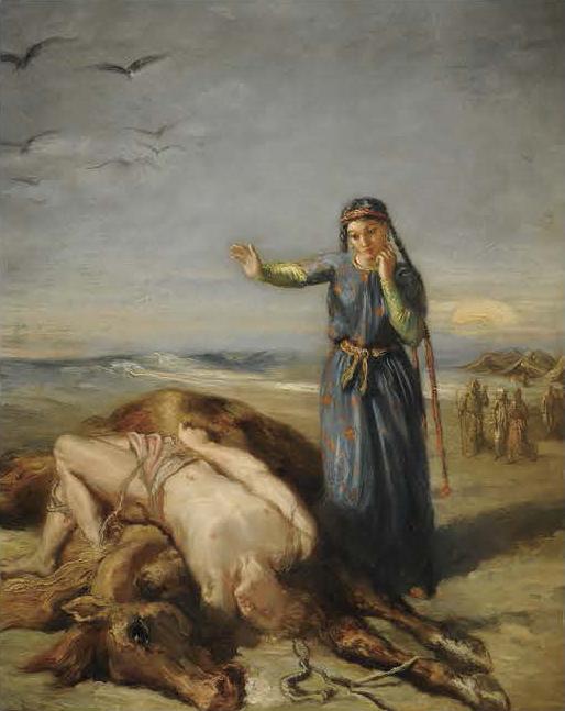《気絶したマゼッパを見つけるコサックの娘》 テオドール・シャセリオー 1851年 ストラスブール美術館(ルーヴル美術館より寄託) Photo©Musées de Strasbourg, Mathieu Bertola