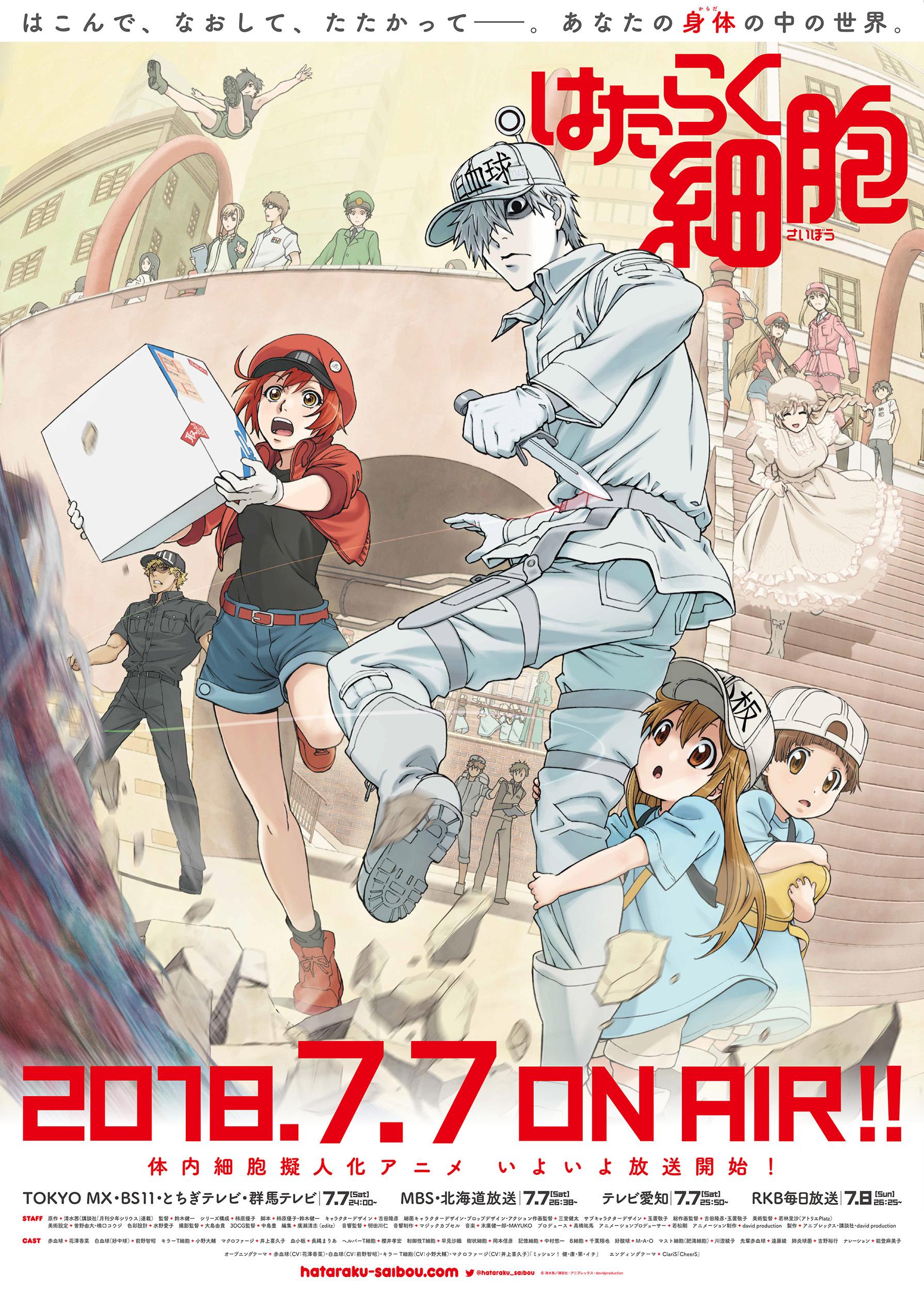TVアニメ『はたらく細胞』第2弾キービジュアルを使用したポスター (C)清水茜/講談社・アニプレックス・davidproduction