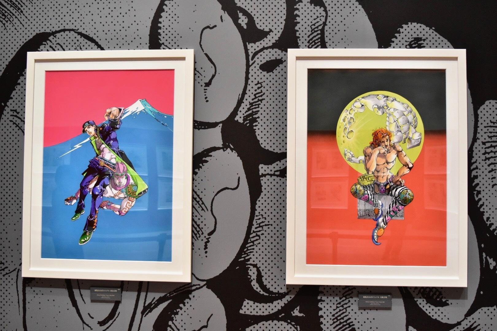 展覧会描きおろしキービジュアル(左:東京会場、右:大阪会場)