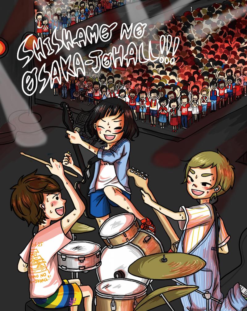 Blu-ray Disc「SHISHAMO NO OSAKA-JOHALL!!!」ジャケット