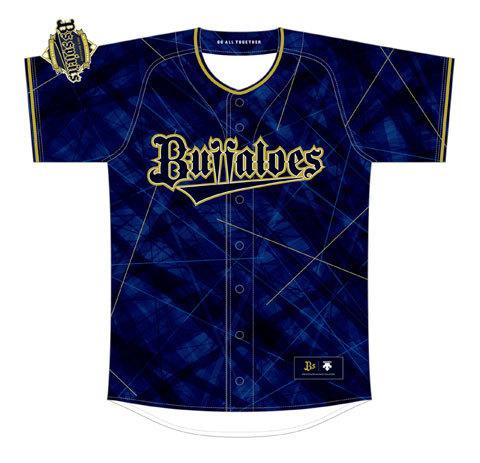 『Bsオリ達デー』用ユニフォームはロゴや襟、袖のふち部分がゴールド