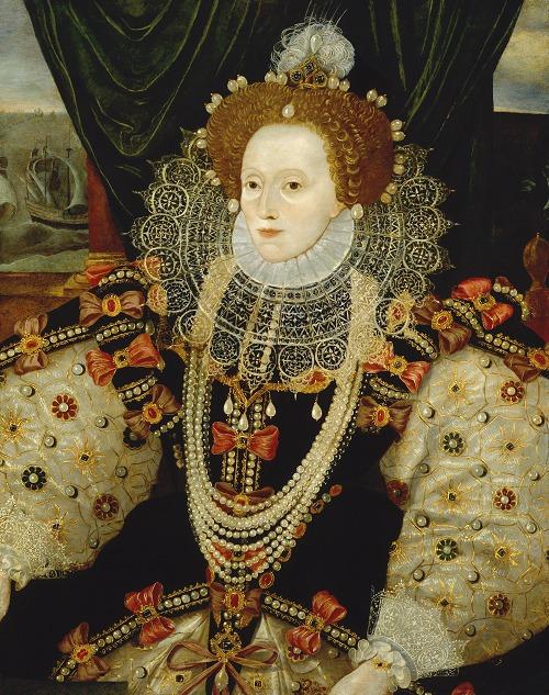 《エリザベス1世》 Queen Elizabeth I by Unknown English artist (ca.1588) (C)National Portrait Gallery