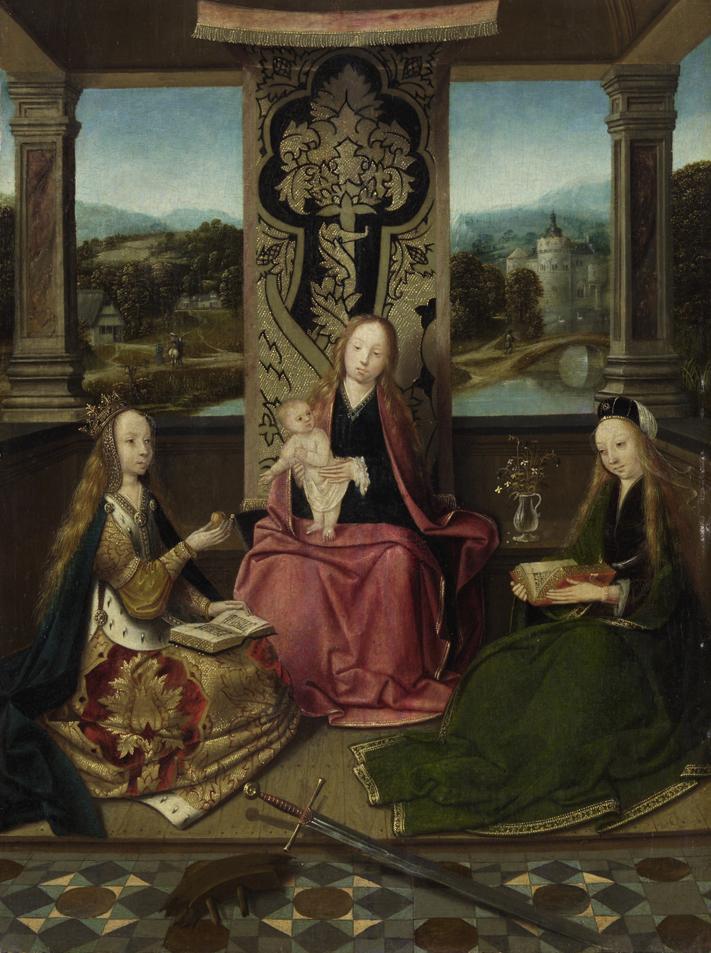 ホーホストラーテンの画家 《聖母子と聖カタリナと聖バルバラ》 1510 年頃 油彩・板