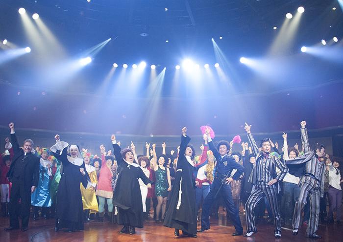 『天使にラブ・ソングを~シスター・アクト~』製作発表でのダンス 撮影=平田貴章