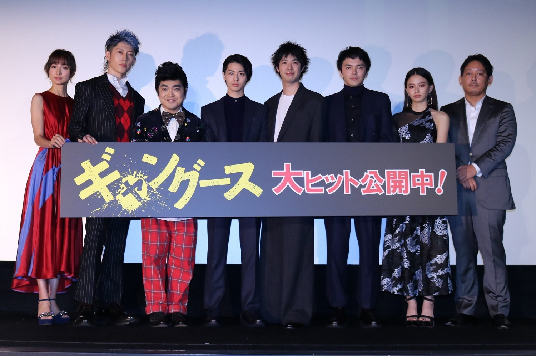 左から、篠田麻里子、MIYAVI、加藤諒、高杉真宙、渡辺大知、林遣都、山本舞香、入江悠監督