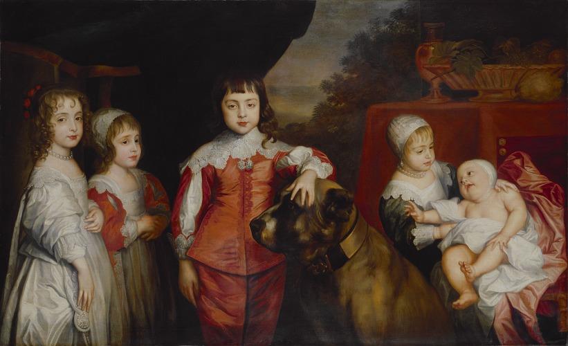 《チャールズ1世の5人の子どもたち》 Five Children of King Charles I after Sir Anthony van Dyck,17th century(1637) (C)National Portrait Gallery
