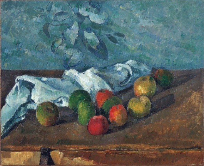 ポール・セザンヌ《りんごとナプキン》1879-80年 東郷青児記念 損保ジャパン日本興亜美術館