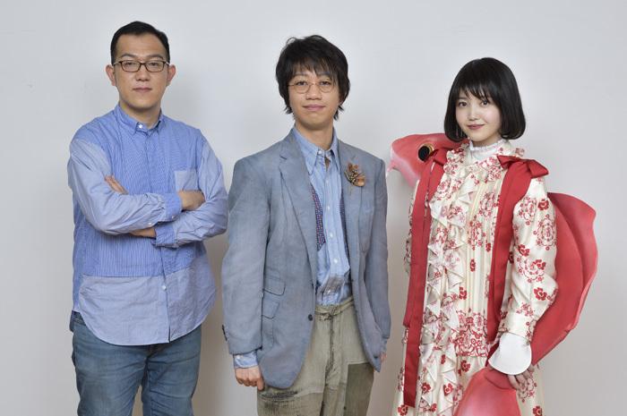 左から 上田誠、中村壱太郎、久保史緒里