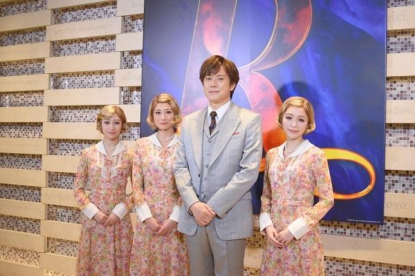 (左から)桜井玲香、大塚千弘、山口祐一郎、平野綾