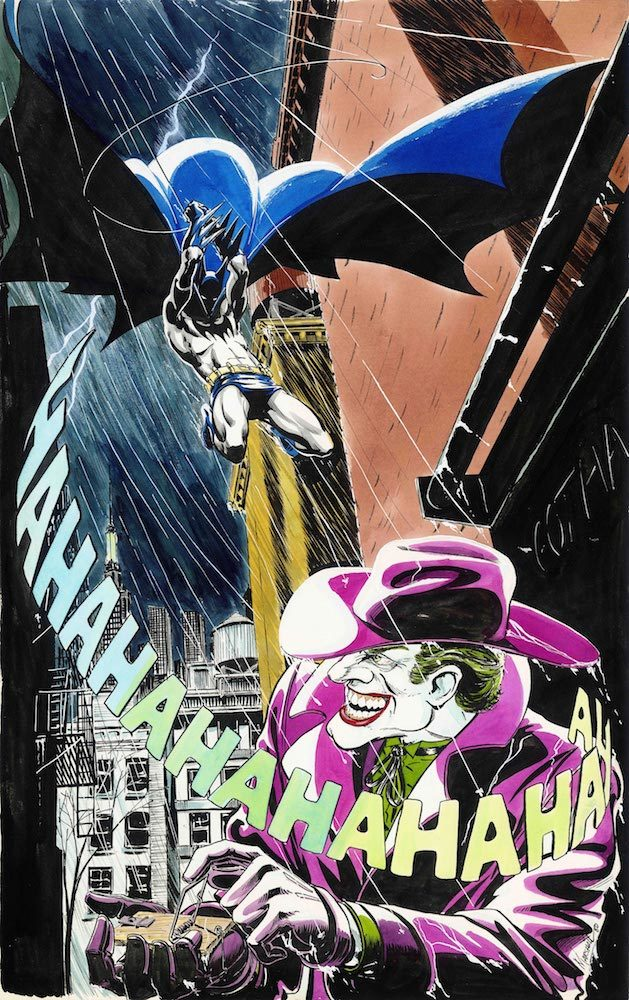 Batman&the Joker 1980 Unpublished Painting Artiste Marshall Rogers  BATMAN and all related characters and elements (C)&TM DC (s21)