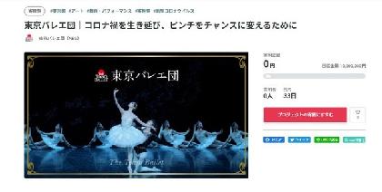 東京バレエ団が初のクラウドファンディングを実施