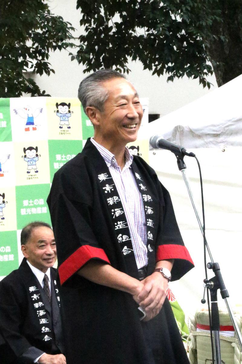 東京都酒造組合会長・小澤順一郎氏