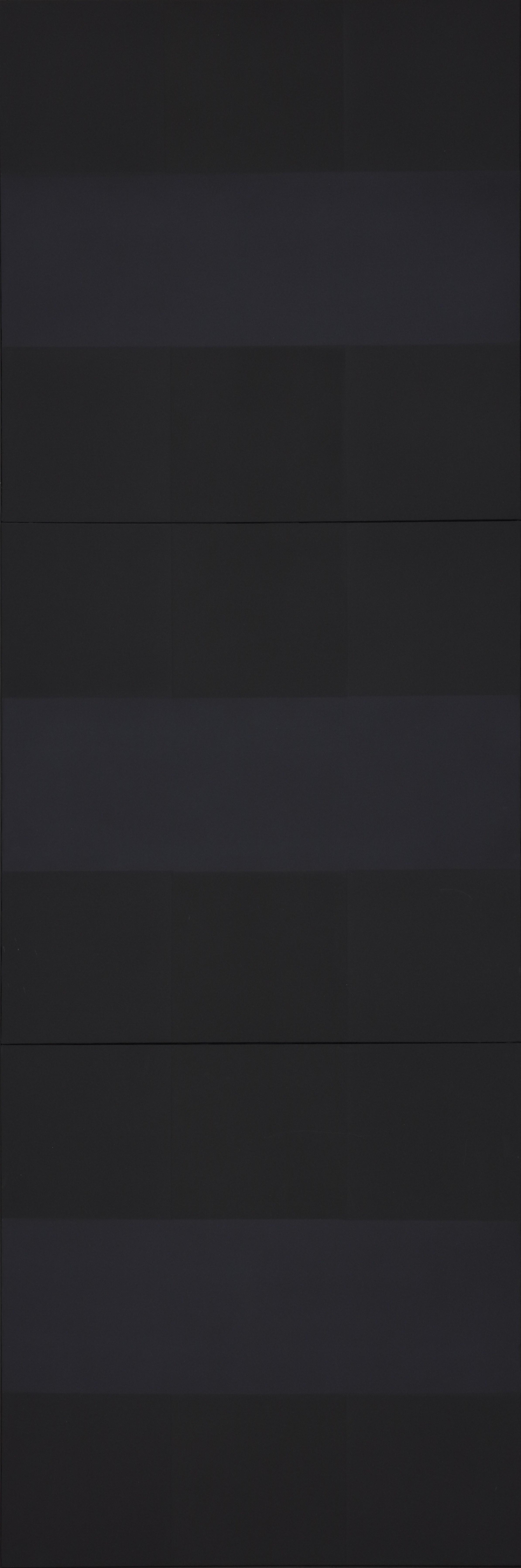 アド・ラインハート 《トリプティック》1960年 油彩、カンヴァス  滋賀県立近代美術館蔵
