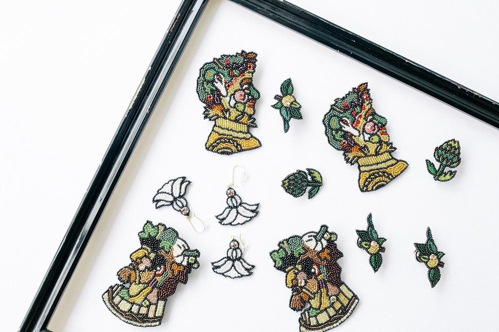 Môko Kobayashi ビーズ刺繍アクセサリー
