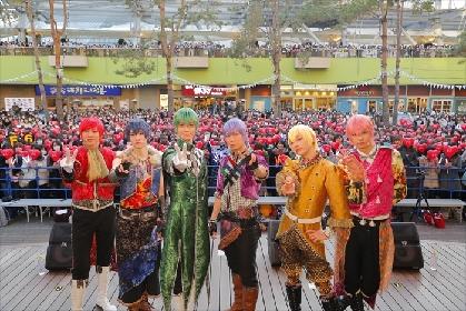 舞台『おそ松さん』のF6がバレンタインミニライブを開催 チョコより甘いイケメン6つ子にとろける女子続出