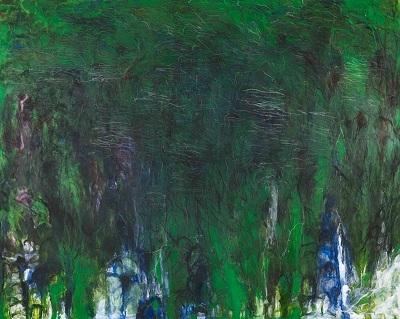 松本陽子《振動する風景的画面》2017年 油彩・キャンヴァス、 200.0x250.0cm 個人蔵 (C)Yoko Matsumoto