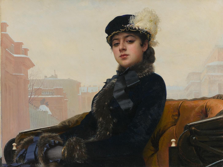 イワン・クラムスコイ 《忘れえぬ女(ひと)》 1883 年 油彩・キャンヴァス (C) The State Tretyakov Gallery