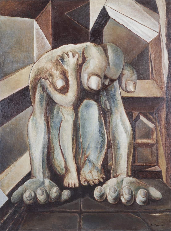 鶴岡政男《重い手》1949