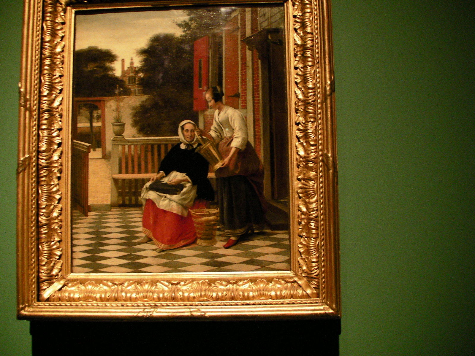 ピーテル・デ・ホーホ《女主人とバケツを持つ女中》(1661-1663頃)