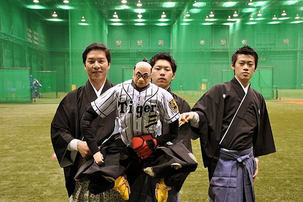 (左から)吉田一輔、みたに君、吉田簑悠、吉田簑之 [撮影:吉永美和子]