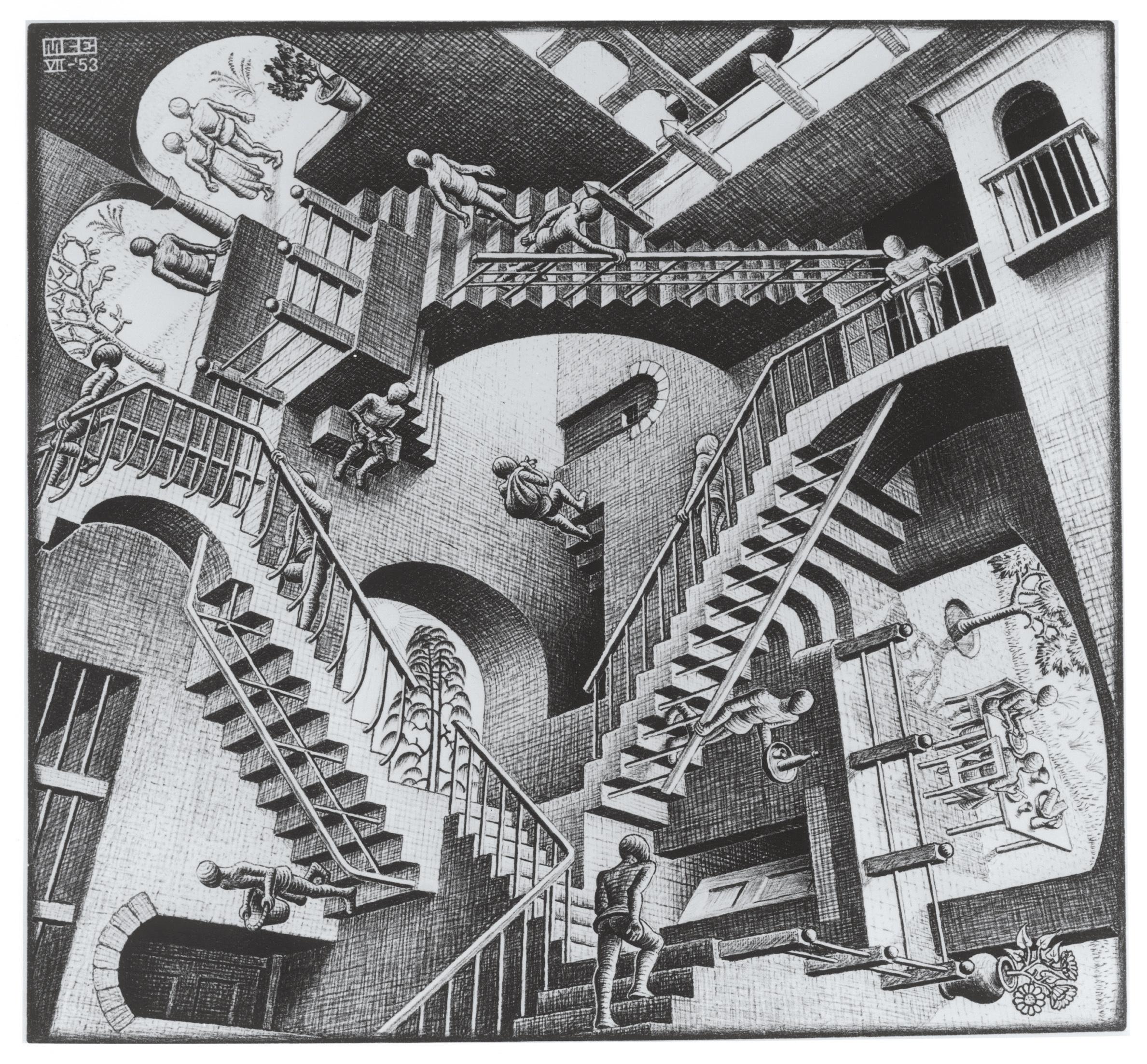 《相対性》 1953年 All M.C. Escher works (C) The M.C. Escher Company, The Netherlands. All rights reserved. www.mcescher.com