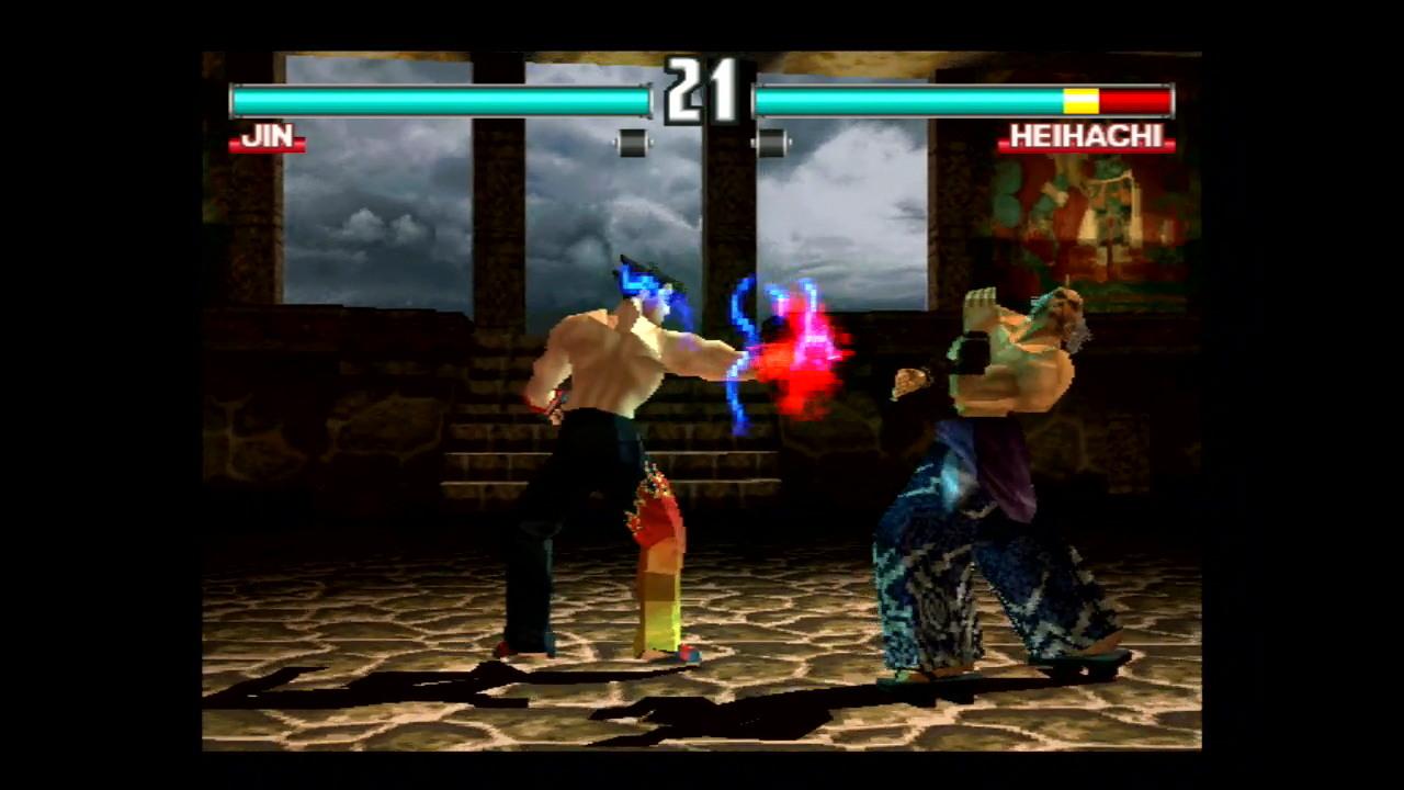 """『鉄拳 3』ゲーム画面 (C)1998 BANDAI NAMCO Entertainment Inc. """"GON""""(C)田中"""