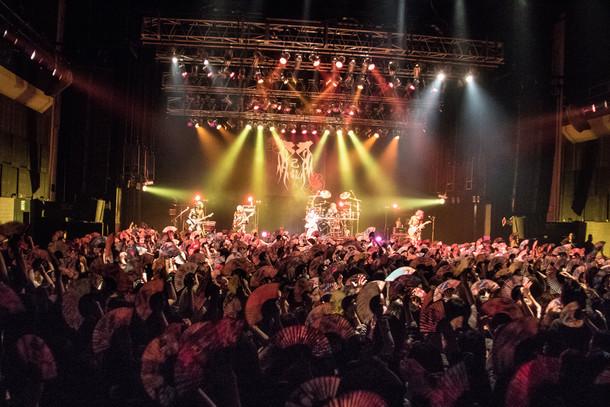 己龍全国単独巡業「彩 霞 蓋 世」CLUB CITTA'公演の様子。(写真提供:B.P.RECORDS)