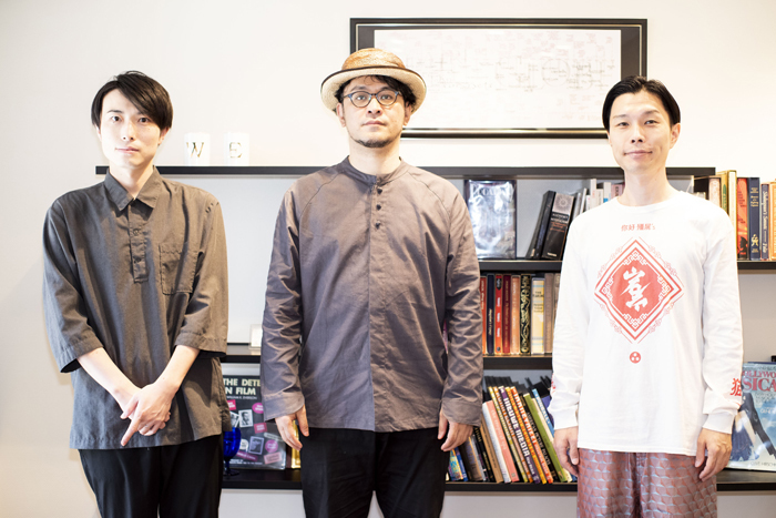 (左から)中屋敷法仁、末満健一、岩井勇気