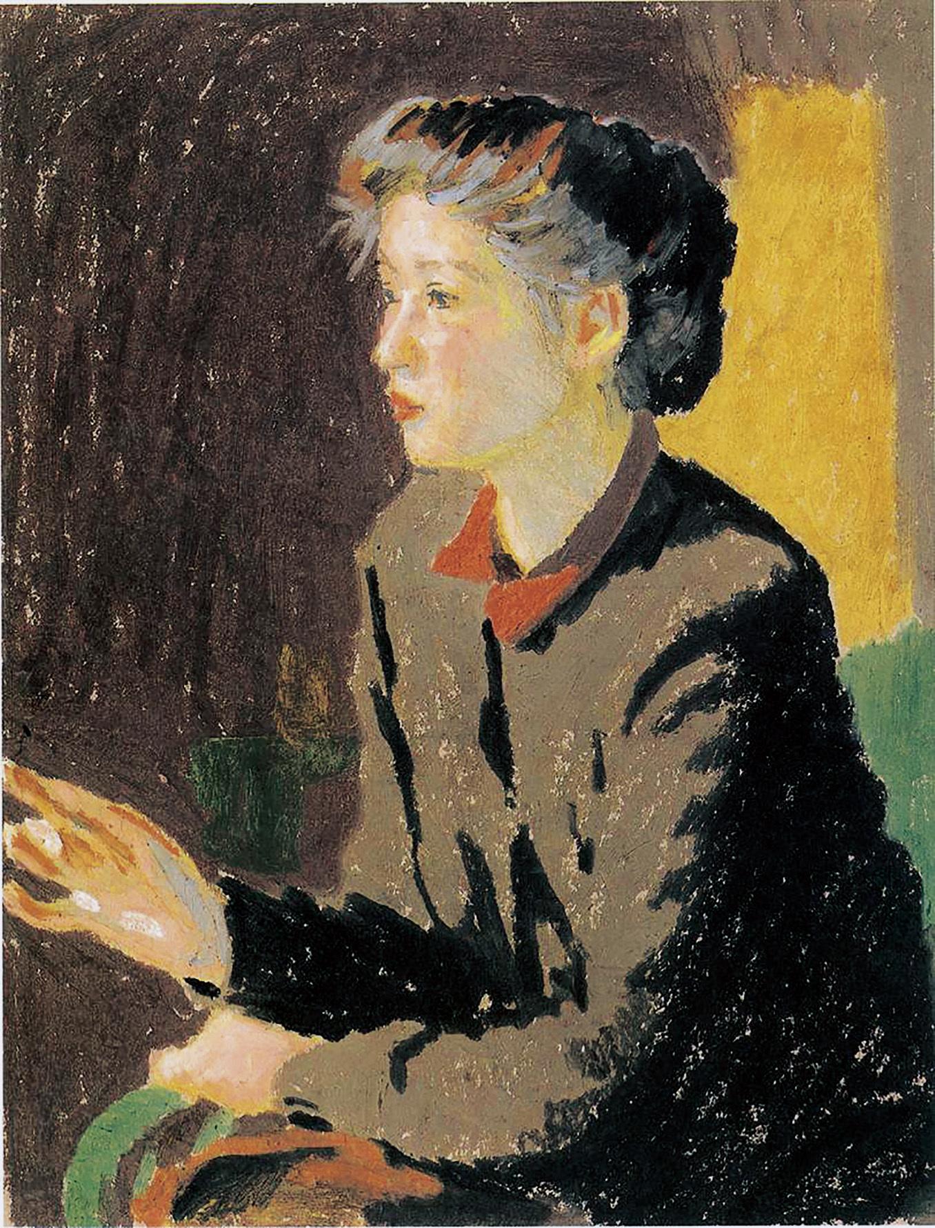 小磯良平《婦人像》 1951年40.0×31.4cmサクラアートミュージアム蔵